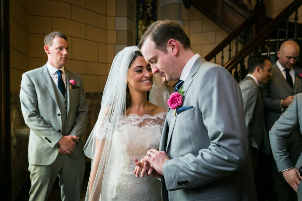 Wedding ceremony at St. Anthony of Padua Church by Hoboken wedding photographer, Kelly Williams