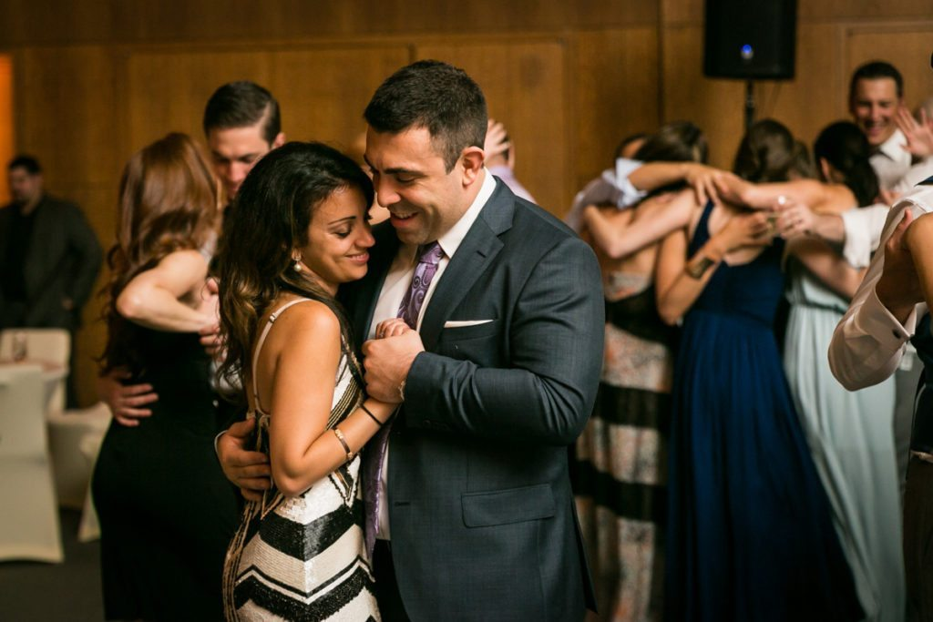 Wedding reception candid by Hoboken wedding photographer, Kelly Williams