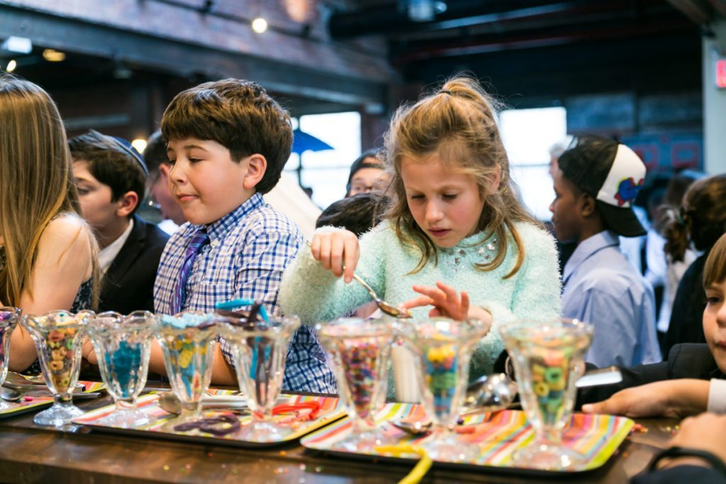 Milkshake bar at a Brooklyn bar mitzvah at 26 Bridge, by Brooklyn bar mitzvah photographer, Kelly Williams