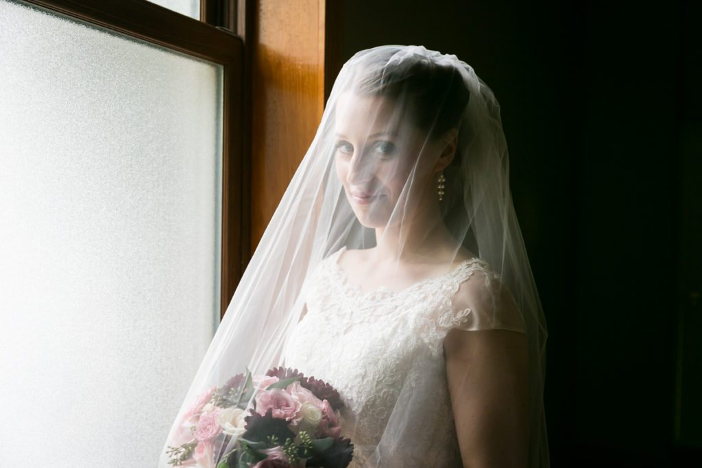 Portrait of the bride, by Douglaston Manor wedding photographer, Kelly Williams