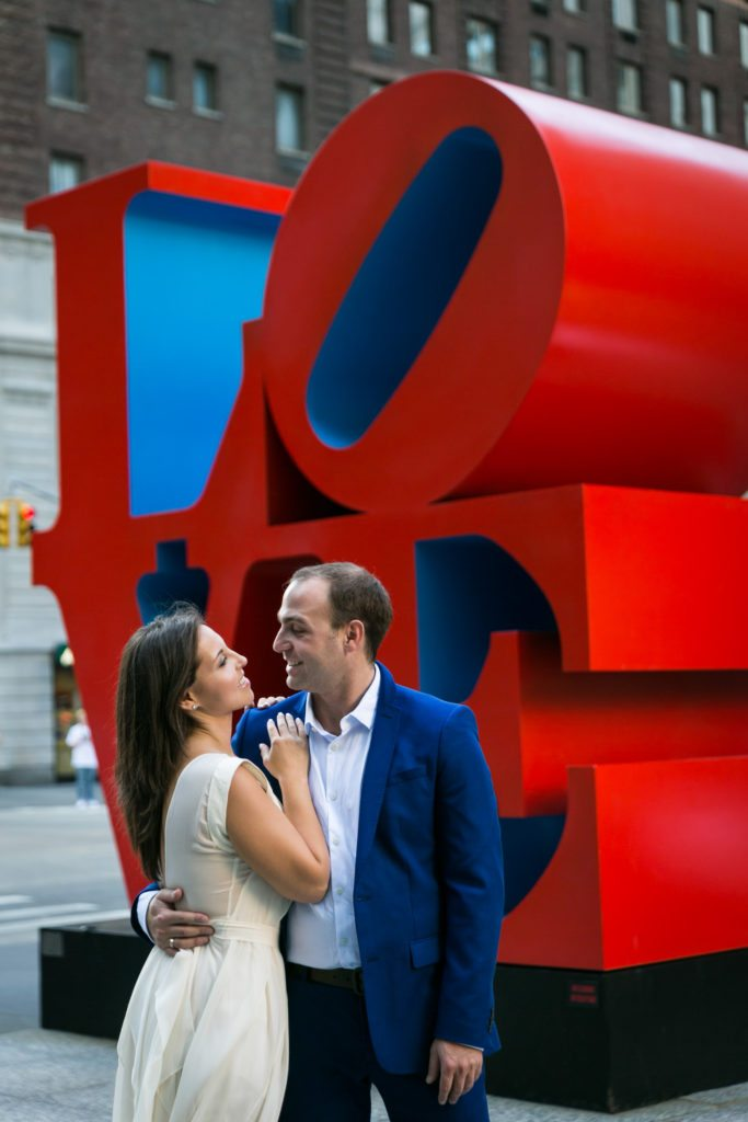 Photo from an engagement shoot to accompany an article about what do you do after you get engaged, by Times Square engagement photographer, Kelly Williams