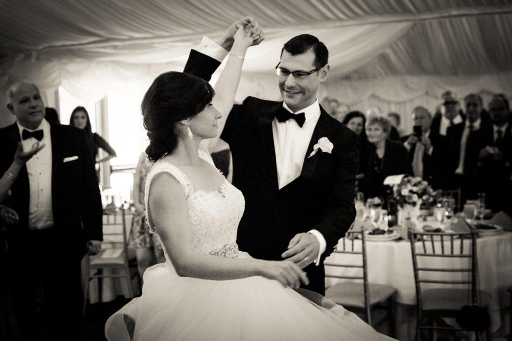 First dance at a Pelham Bay & Split Rock Golf Club wedding reception