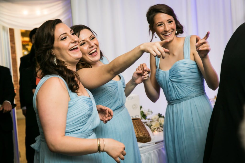Bridesmaids at a Pelham Bay & Split Rock Golf Club wedding reception