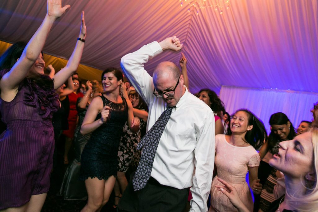 Guests dancing at a Pelham Bay & Split Rock Golf Club wedding reception