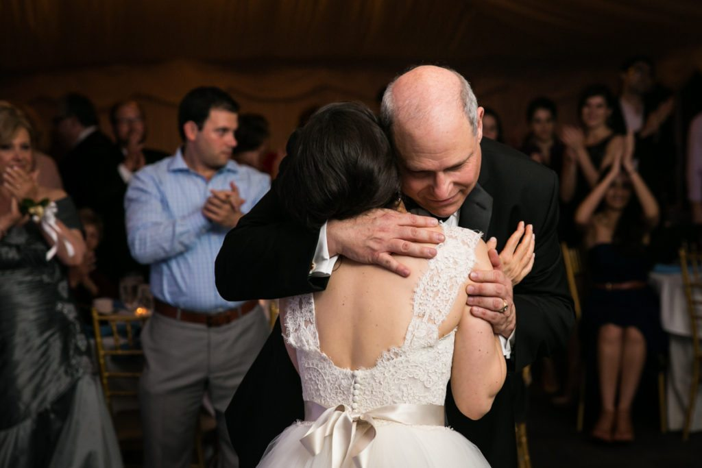 Father daughter dance at a Pelham Bay & Split Rock Golf Club wedding reception