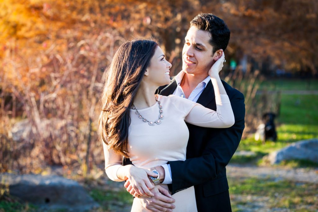 An engagement shoot photographed with a 70-200mm lens, by engagement photojournalist, Kelly Williams