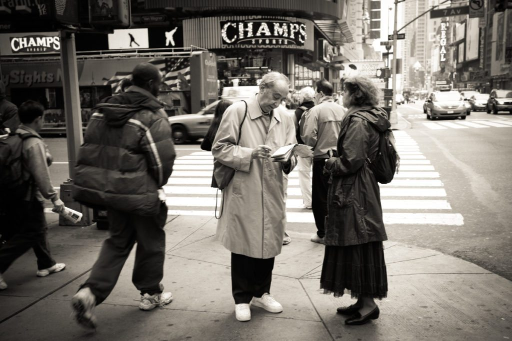 Times Square tourists by NYC photographer, Kelly Williams