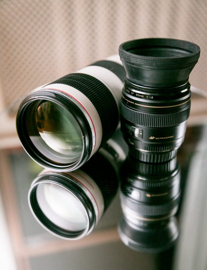 Canon telephoto lenses, photographed by Kelly Williams