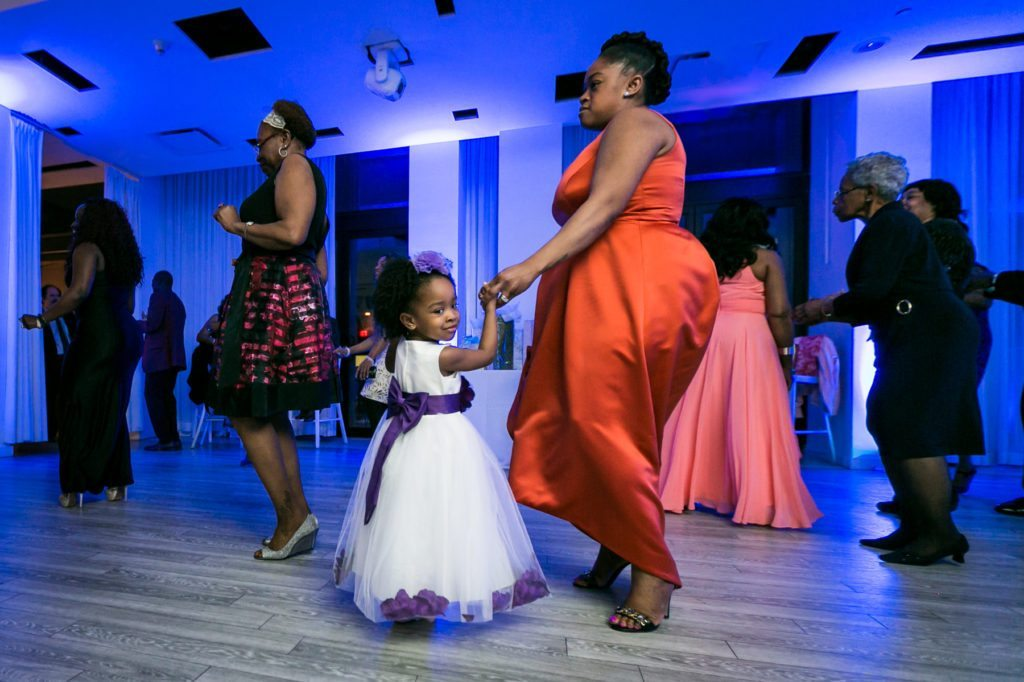 Dancing at an Allegria Hotel party by NYC event photojournalist, Kelly Williams