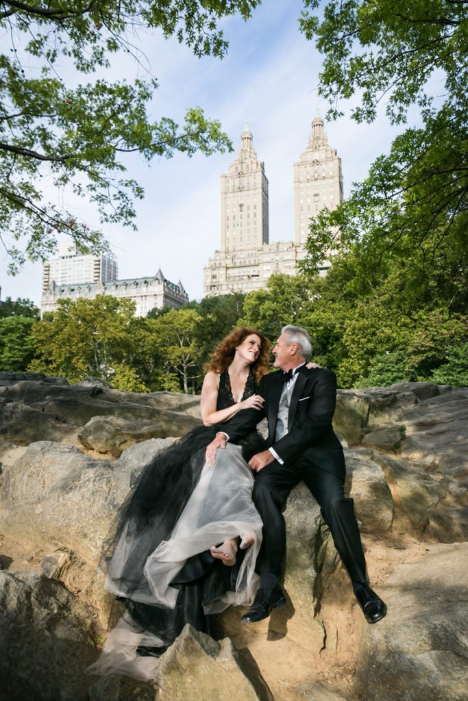 Couple posed for an article on Central Park engagement shoot tips by NYC engagement photographer, Kelly Williams