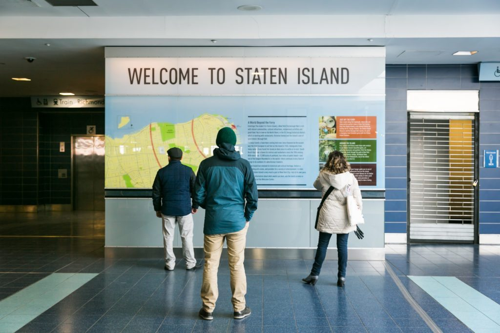 At the Staten Island Ferry terminal in St. George, by NYC photographer, Kelly Williams