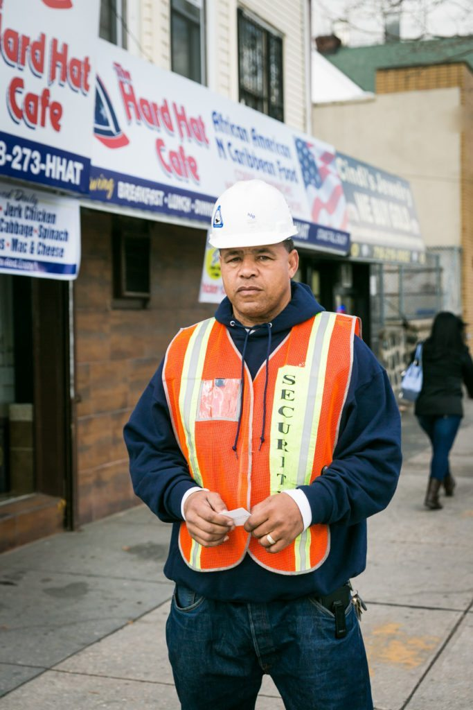 Staten Island construction worker, by NYC photographer, Kelly Williams