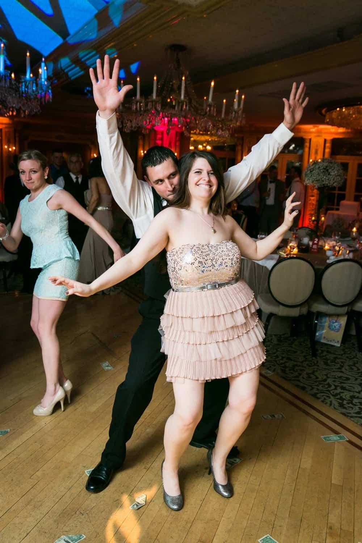 Couple dancing at Manor wedding reception