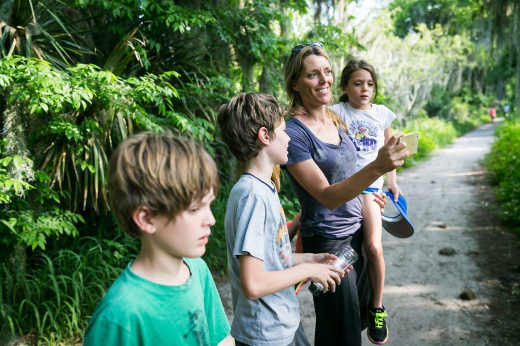 A family visits the Circle B Bar Reserve by NYC photographer, Kelly Williams