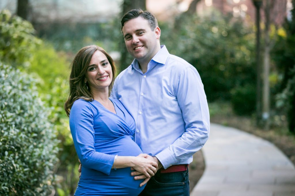 Manhattan parents-to-be by photojournalistic maternity photographer, Kelly Williams