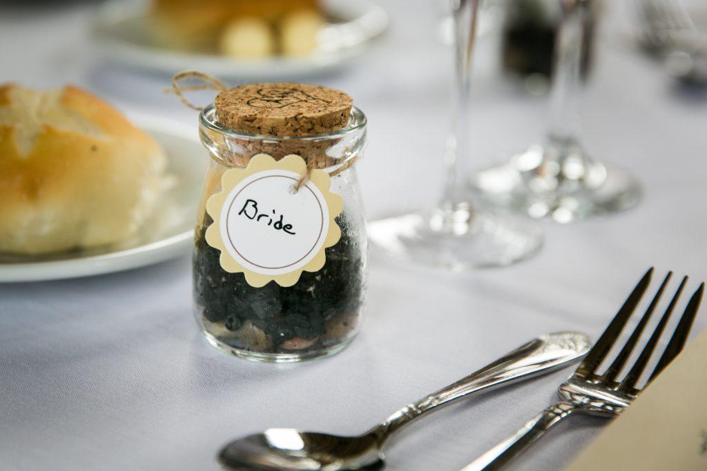 Small terrarium as guest favors at a Snug Harbor wedding