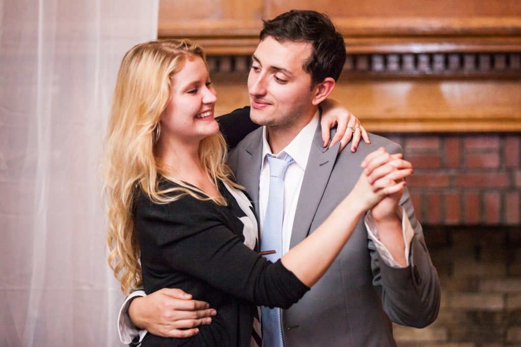 Couple dancing at a Snug Harbor wedding