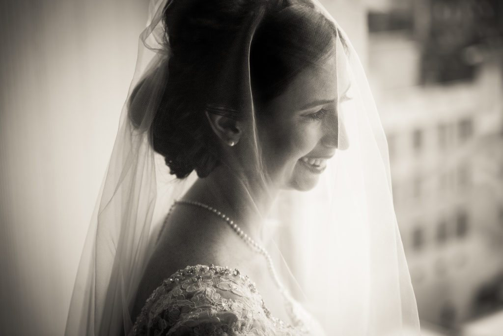 Bridal portrait for a Columbus Citizens Foundation wedding by NYC wedding photojournalist, Kelly Williams