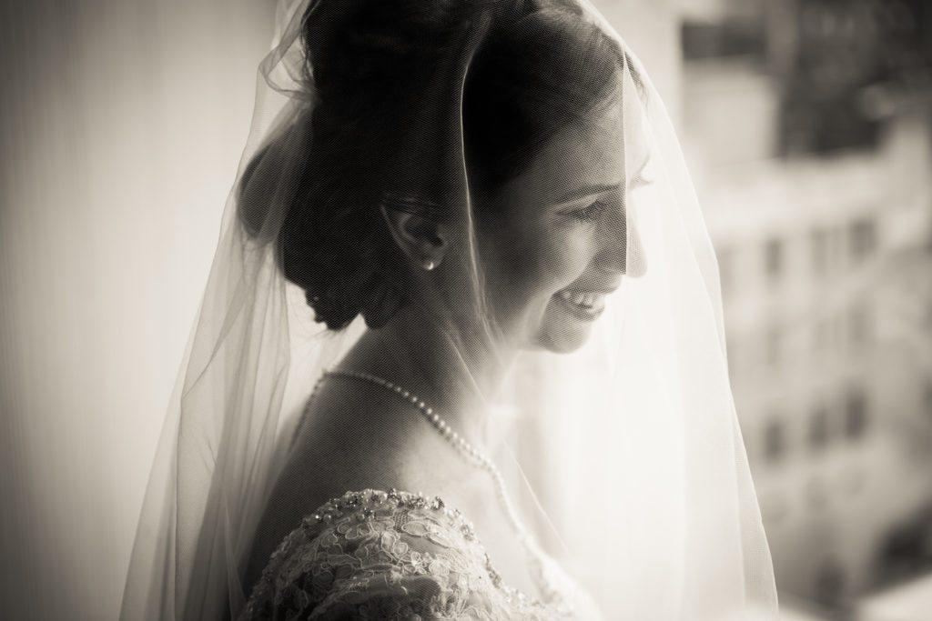 Bridal portrait for a Columbus Citizens Foundation wedding by NYC wedding photojournalist, Kelly Williams