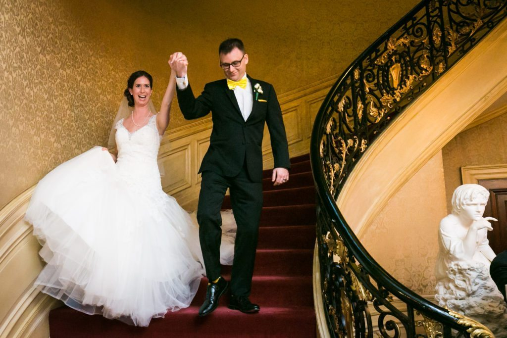 Bride and groom introduced at a Columbus Citizens Foundation wedding by NYC wedding photojournalist, Kelly Williams