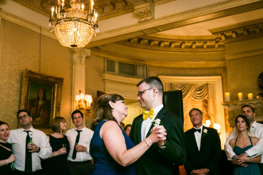 Parent dances at a Columbus Citizens Foundation wedding by NYC wedding photojournalist, Kelly Williams