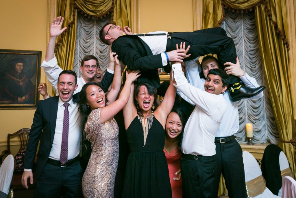 Photo of guests at a Columbus Citizens Foundation wedding by NYC wedding photojournalist, Kelly Williams
