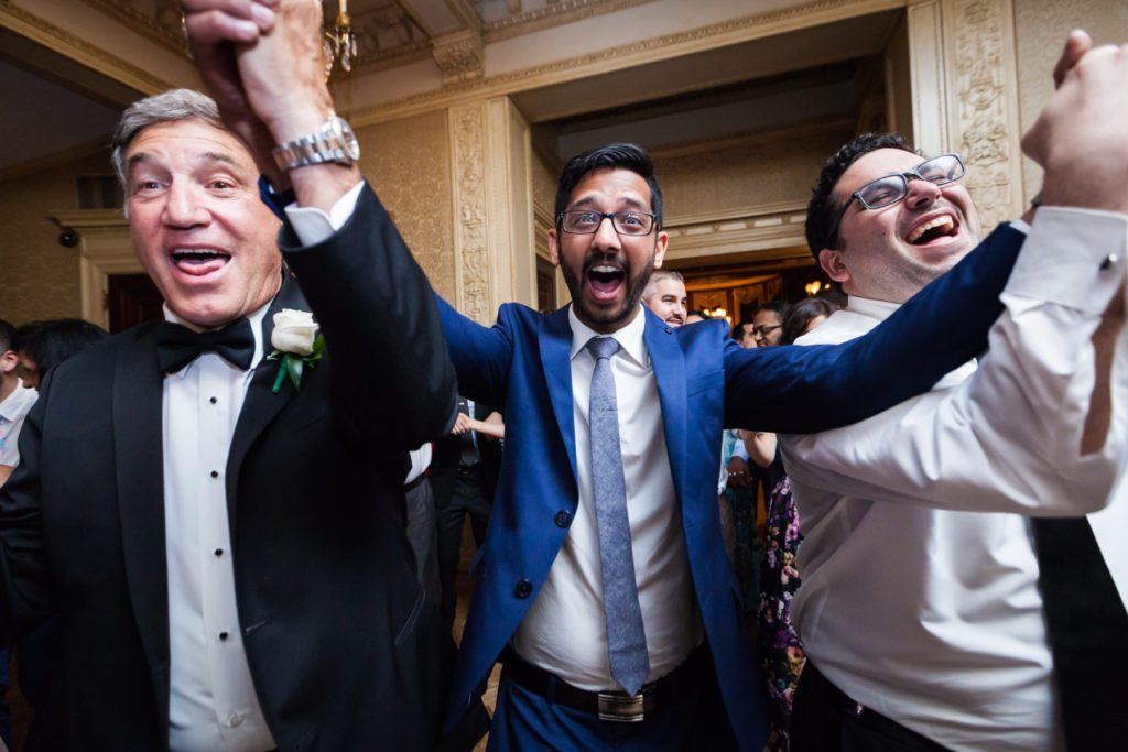Tarantella dance at a Columbus Citizens Foundation wedding by NYC wedding photojournalist, Kelly Williams