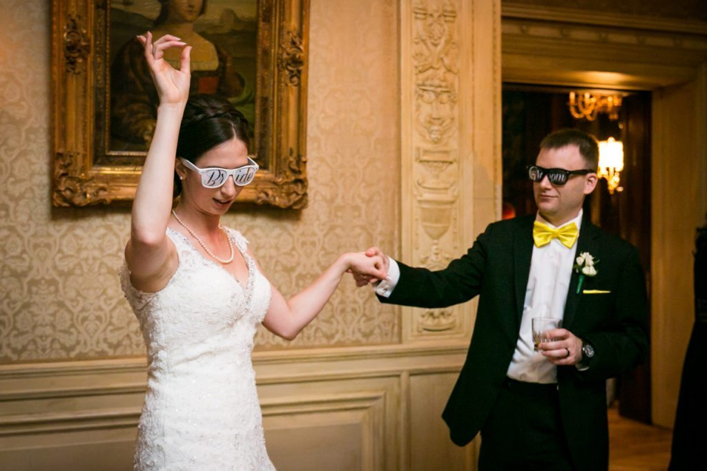 Bride and groom dancing at a Columbus Citizens Foundation wedding by NYC wedding photojournalist, Kelly Williams