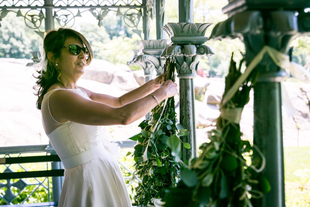Ladies Pavilion wedding ceremony by NYC wedding photojournalist, Kelly Williams