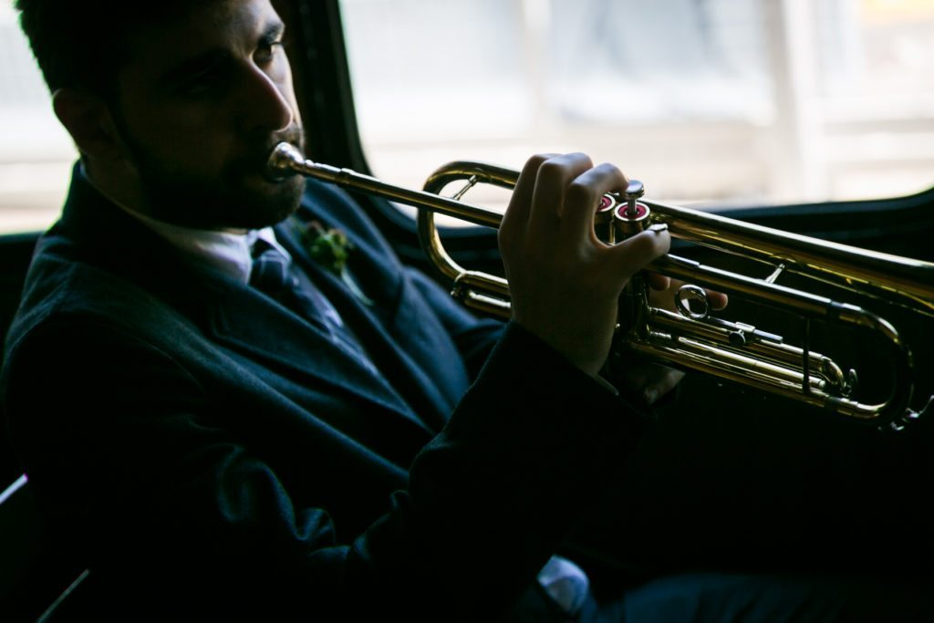 Jazz band for a Ladies Pavilion wedding by NYC wedding photojournalist, Kelly Williams