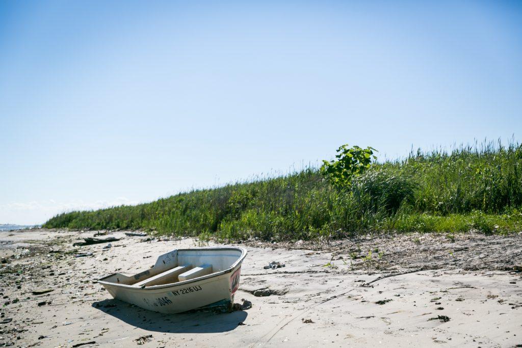 Dead Horse Bay photos of rowboat on beach