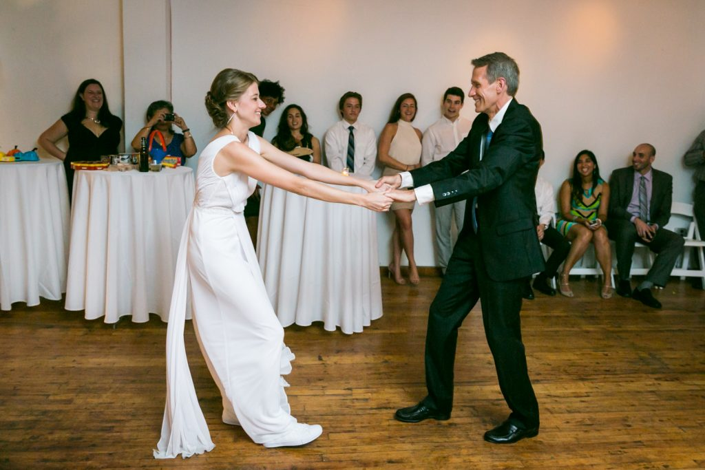 Bride and father dancing at Astoria wedding reception