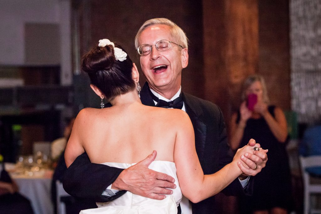 Father-daughter dance at a DUMBO Loft wedding