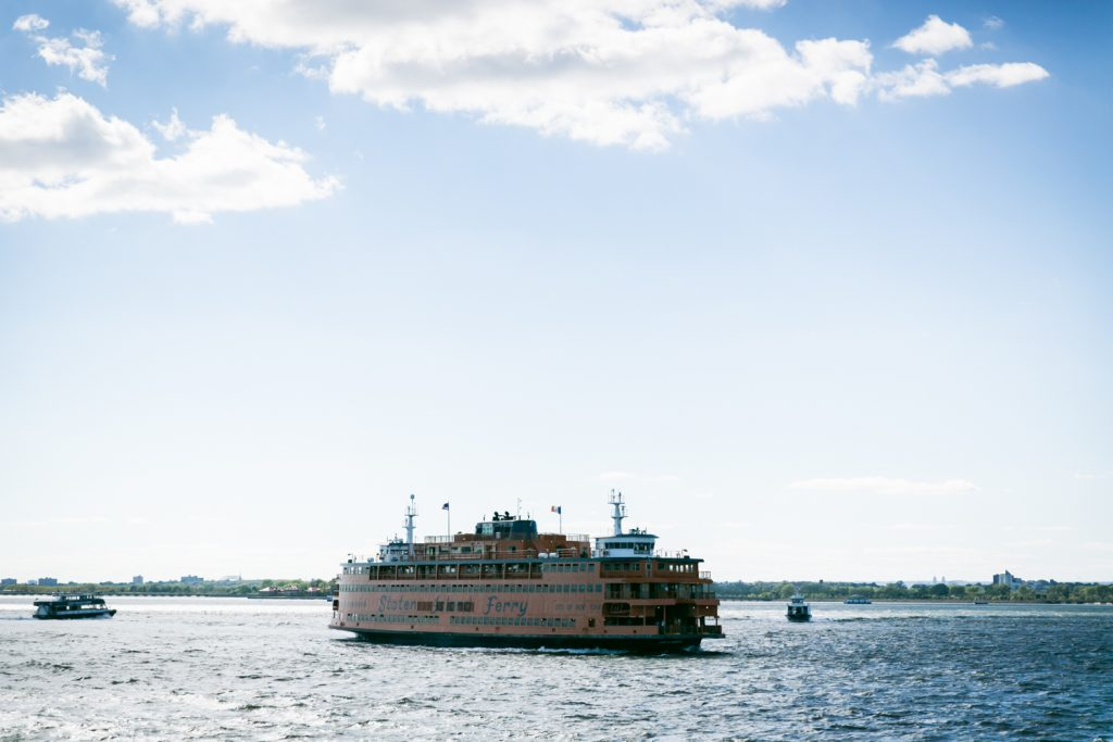 Staten Island ferry in water