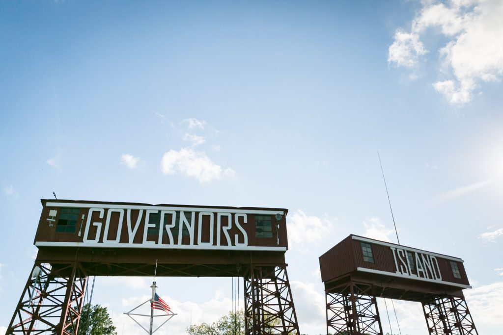 Entrance gates on Governors Island