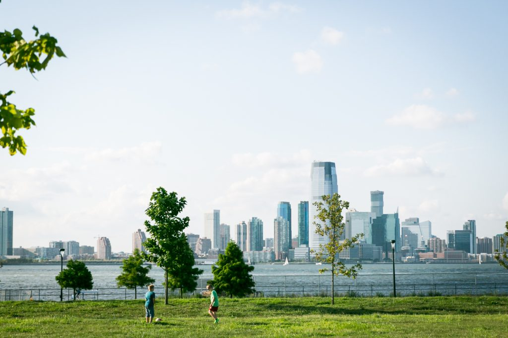 Governors Island photos of island with NYC skyline in background