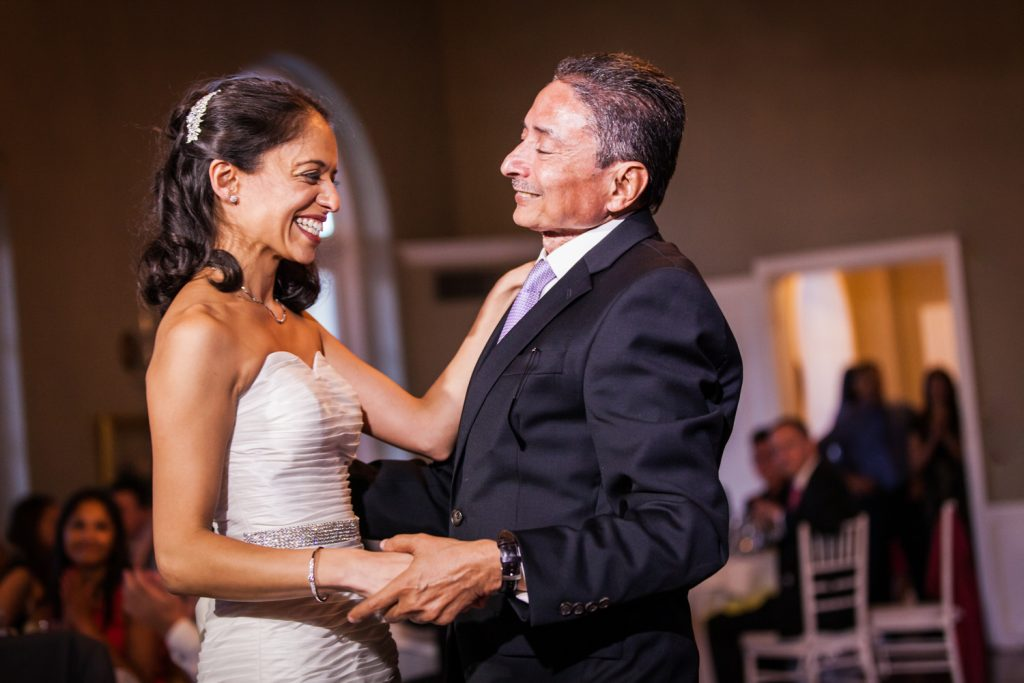Bride and father dancing at Highlands Country Club wedding ceremony
