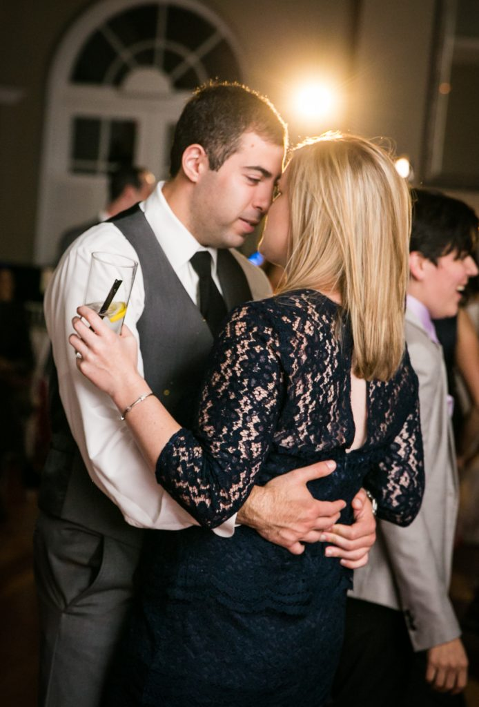 Guests dancing close at Highlands Country Club wedding