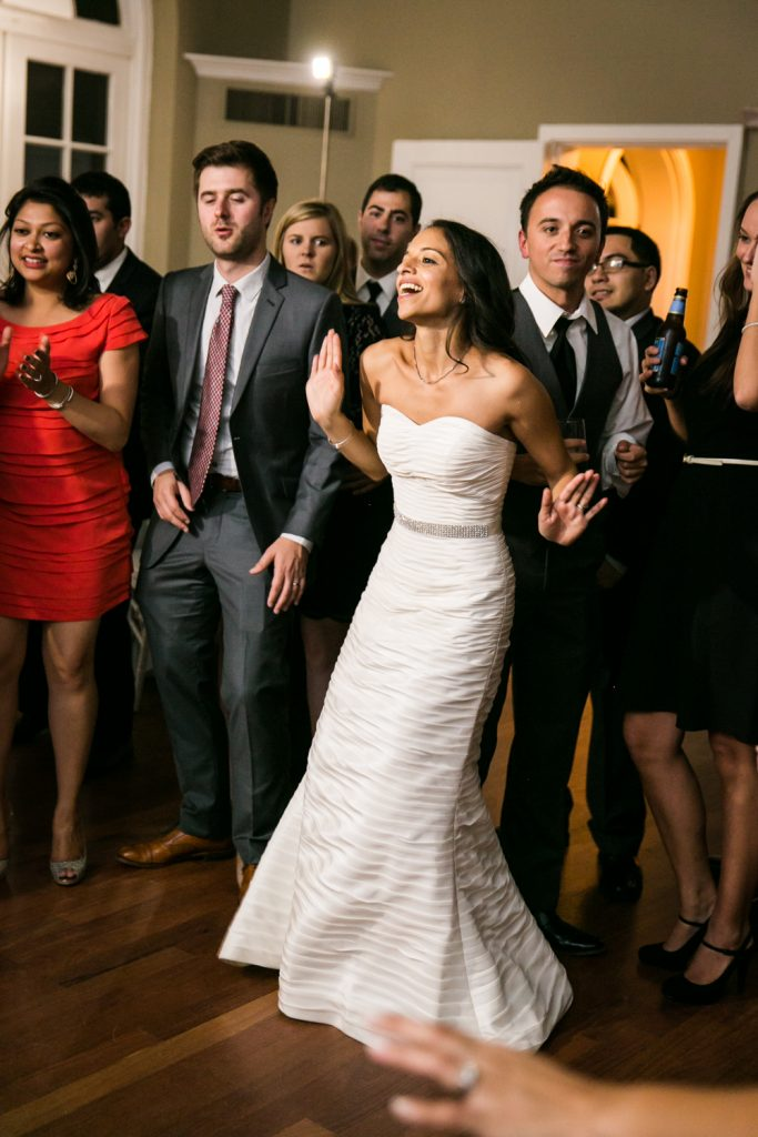 Bride dancing in front of guests at Highlands Country Club wedding