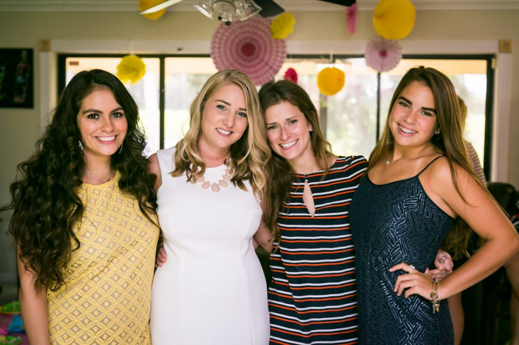 Four female guests at a Florida bridal shower