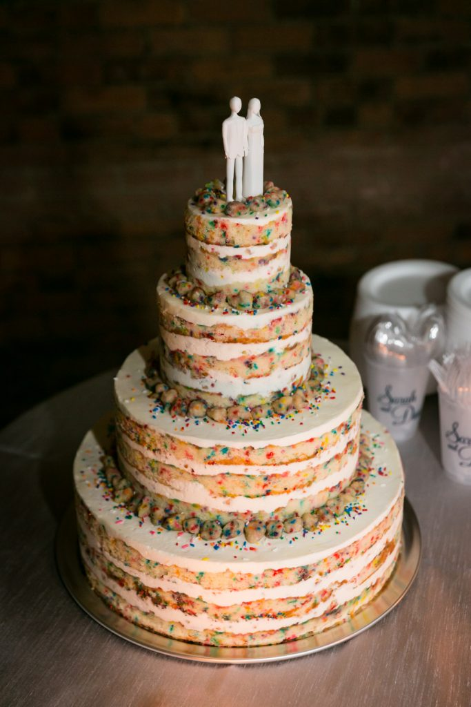 Unfrosted wedding cake by Momofuku Milk Bar