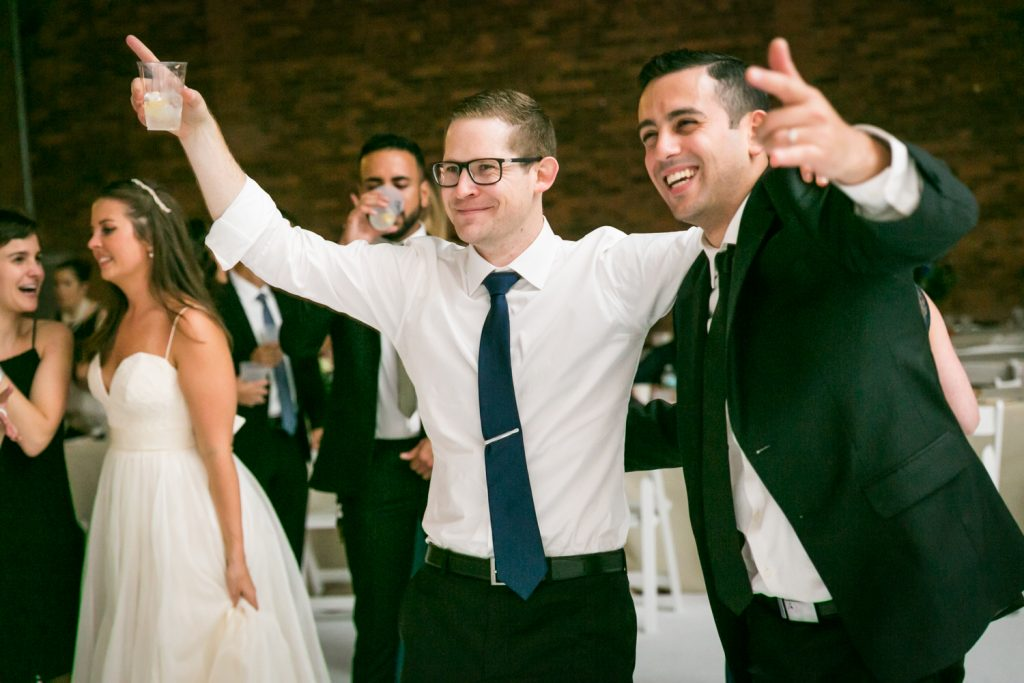 Groom and guest dancing at Bathhouse Studios wedding