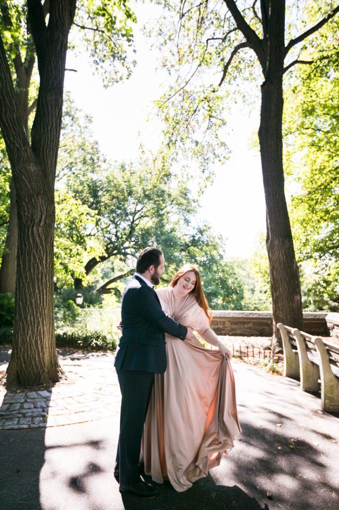 Bride and groom dancing after Linden Terrace wedding