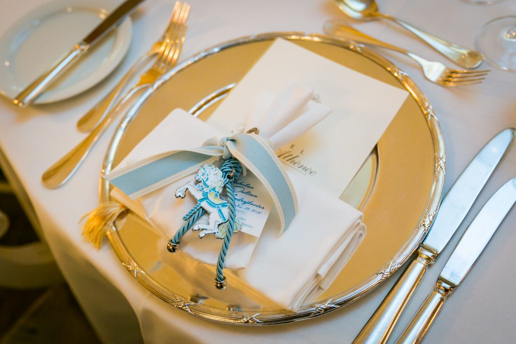 Place setting with carousel horse