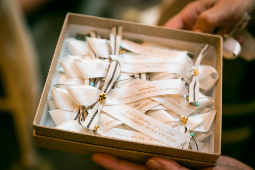Baptism ribbons for guests