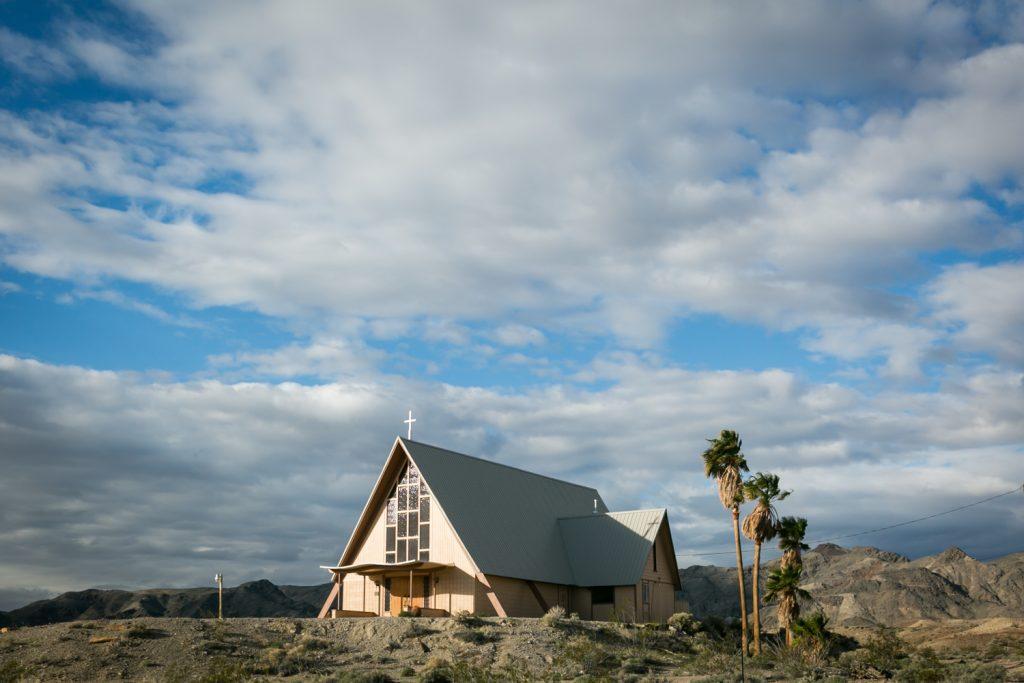 A-frame Catholic church in Shoshone, California