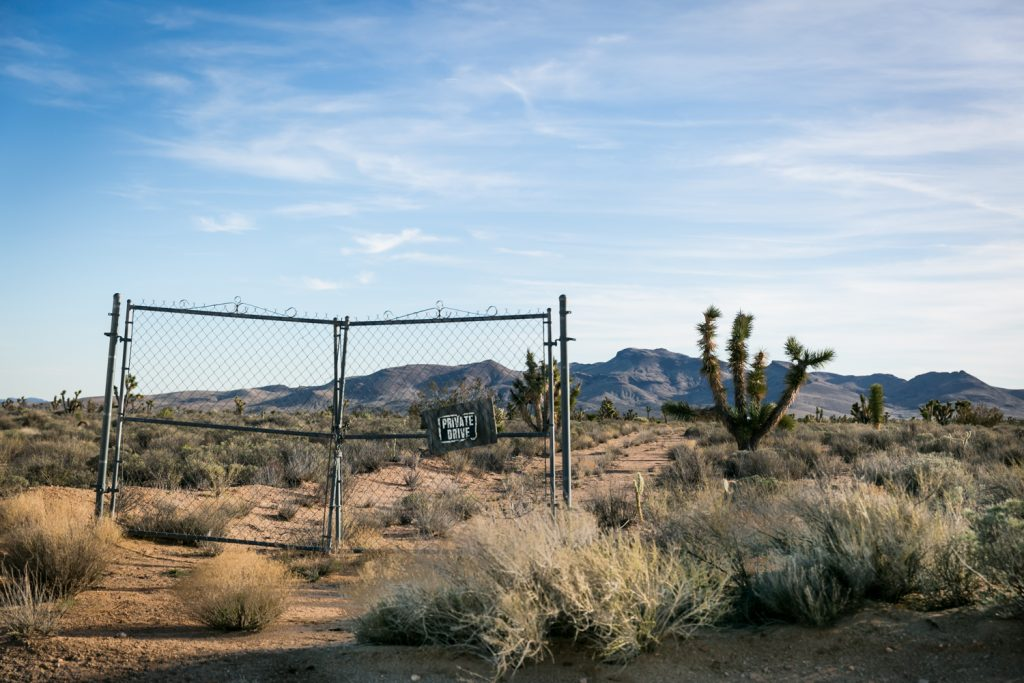 Gate on Ivanpah Road, Mojave National Preserve