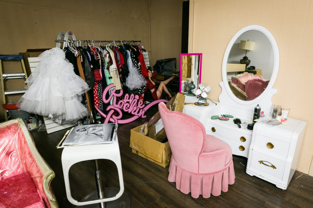 Photo studio at Rockin Bettie in Las Vegas for article about free pinup photo session offer