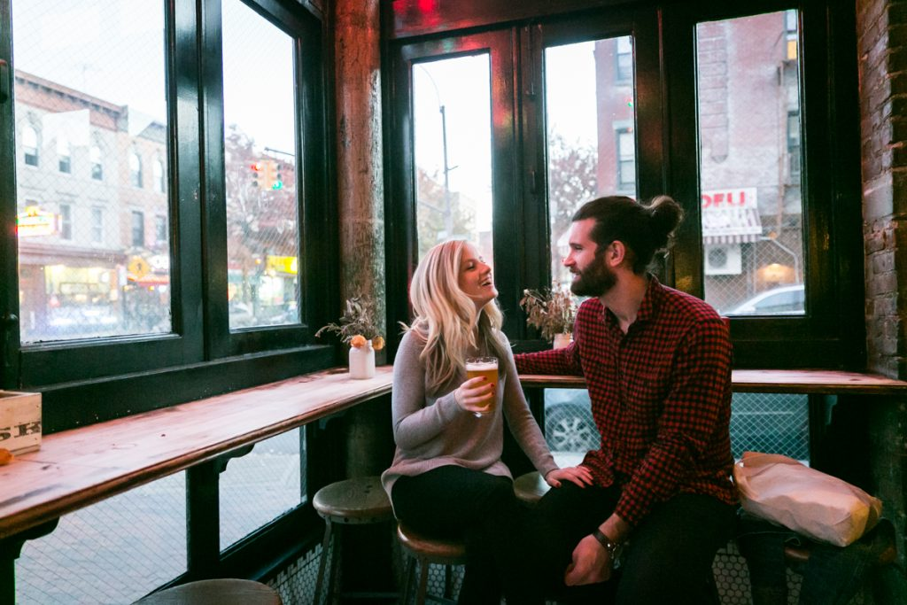 Couple drinking a beer at the Double Windsor pub
