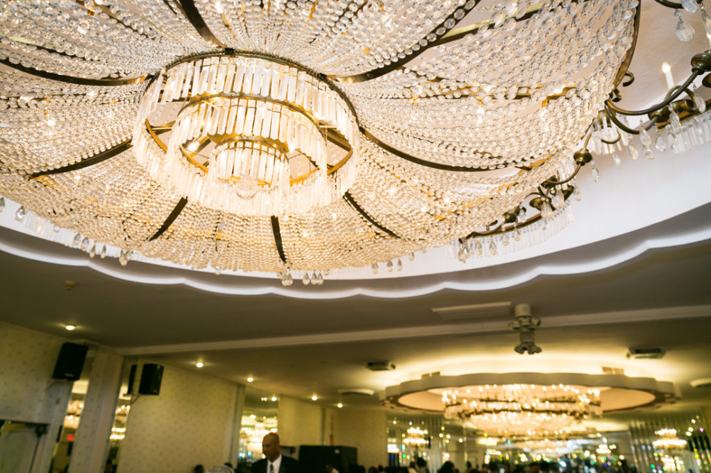 Chandeliers at a Glen Terrace wedding